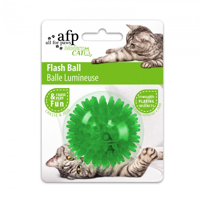 All for Paws Modern Cat Flash Ball Cat Toy, Assorted Colors