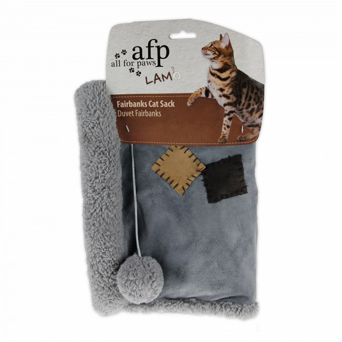 All for Paws Lamb Fairbanks Sack Cat Toy, Assorted