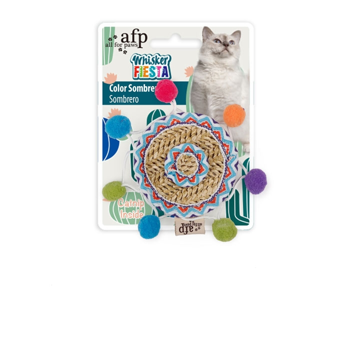 All for Paws Whisker Fiesta Color Sombrero Cat Toy