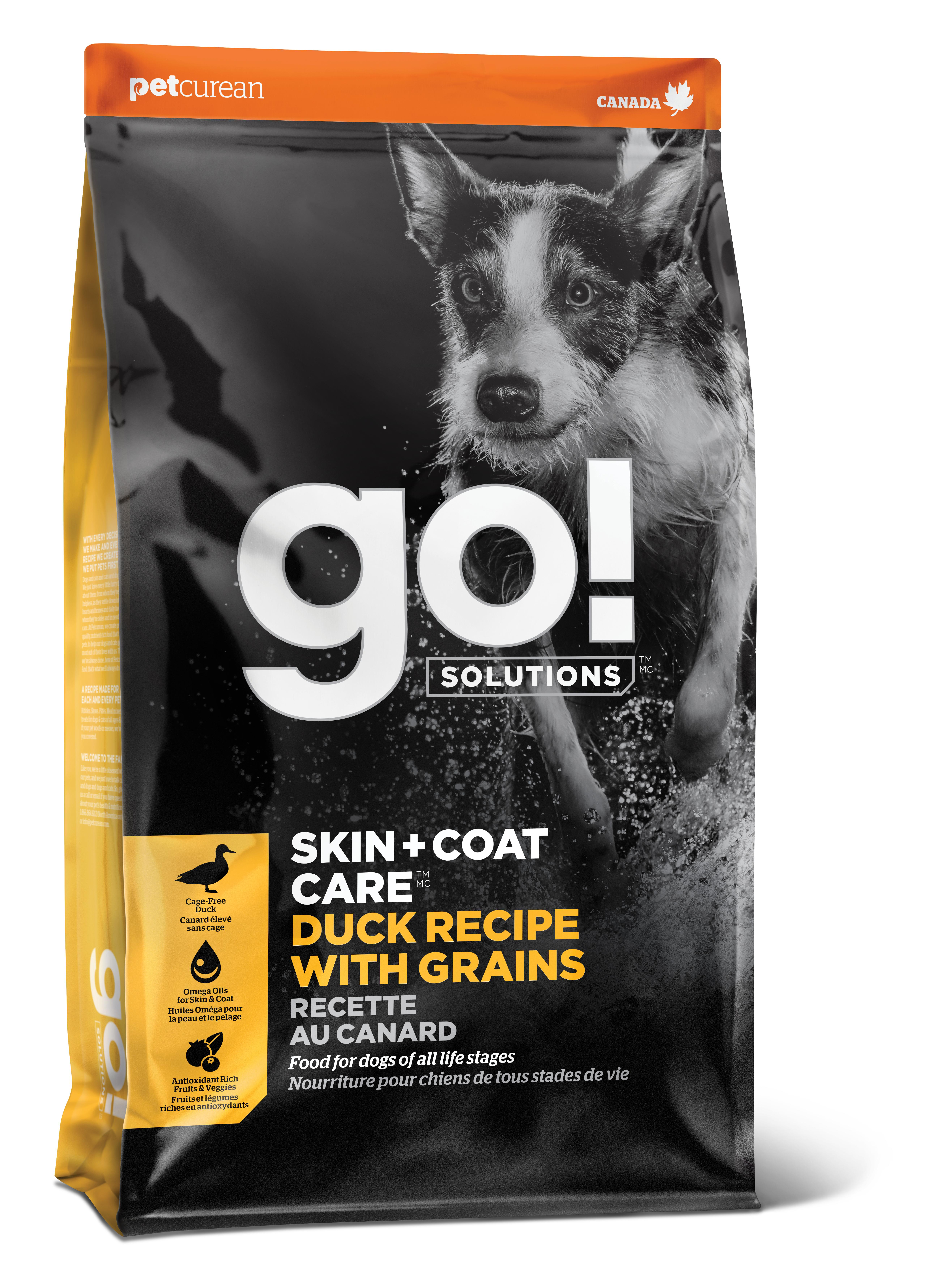 Go! Solutions Skin + Coat Care Duck with Grains Dry Dog Food Image
