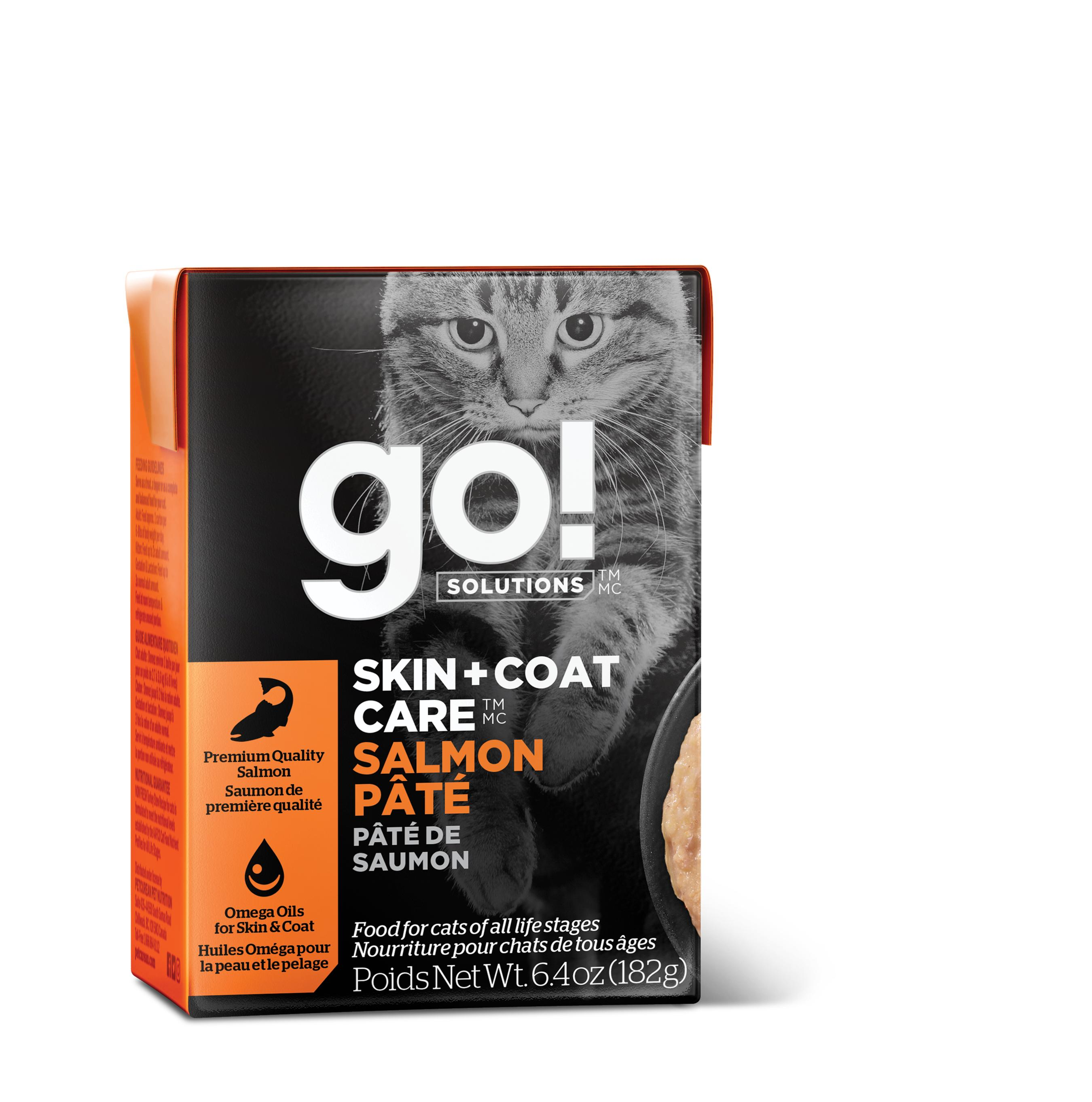 Go! Solutions Skin + Coat Care Salmon Pate Wet Cat Food, 6.4-oz