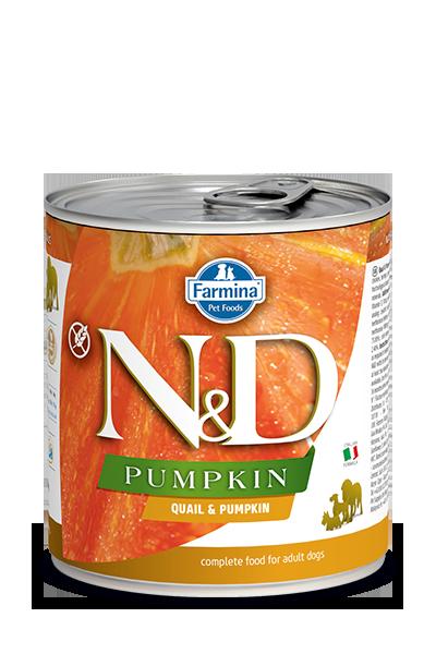 Farmina N&D Pumpkin, Quail & Pomegranate Wet Dog Food, 10-oz, case of 6