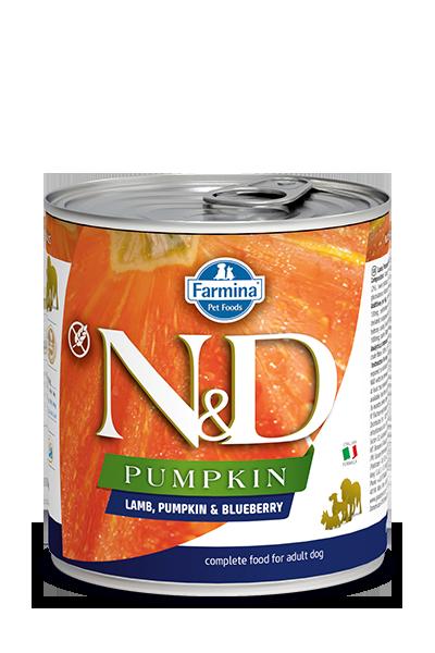 Farmina N&D Pumpkin, Lamb & Blueberry Wet Dog Food, 10-oz, case of 6