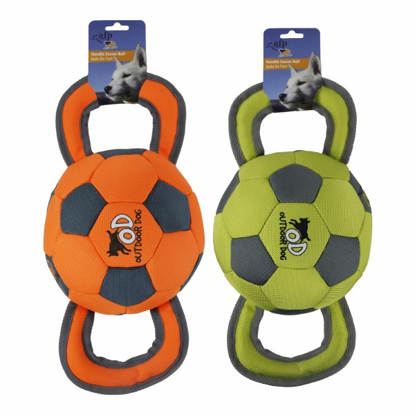 All For Paws Outdoor Dog Ballistic Soccer Ball Assorted Colors Dog Toy