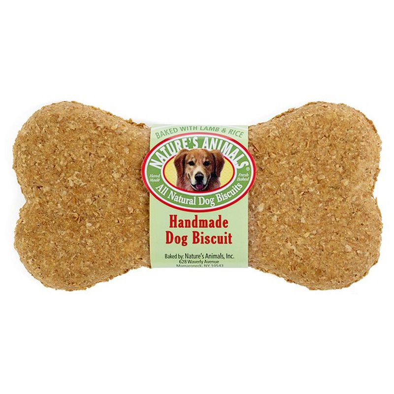 Nature's Animals Original Bakery Biscuits with Lamb & Rice Dog Treats, single