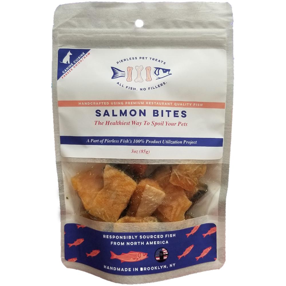Pierless Pets Freeze Dried Salmon Bites Dog Treats, 3-oz bag