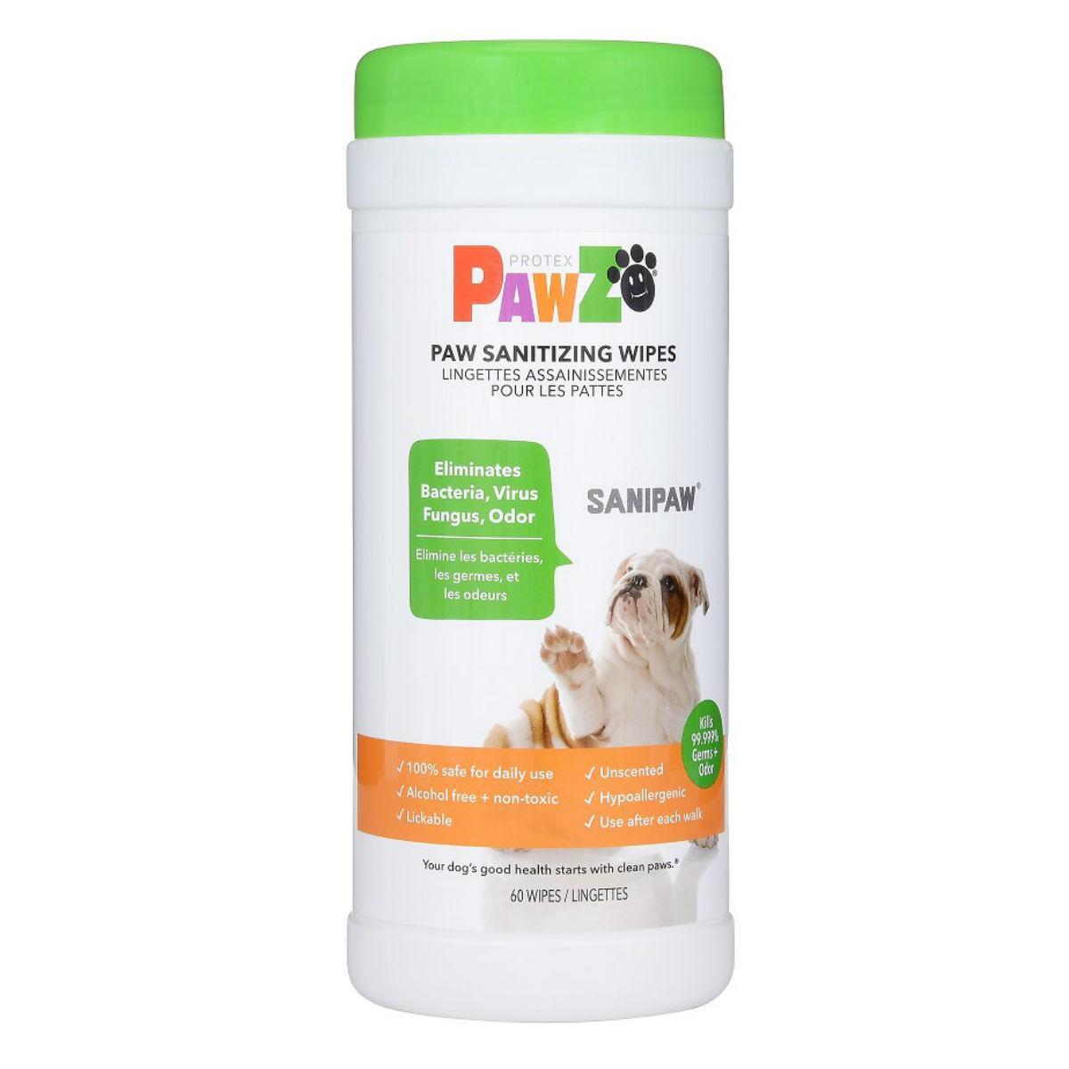 PAWZ Sanipaw Paw Sanitizing Wipes Image
