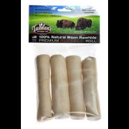 Tasman's American Bison Rawhide Rolls Dog Treats, Small, 4-pk