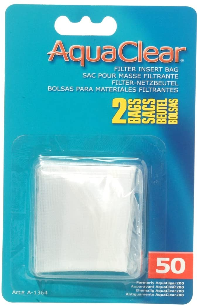 AquaClear 50 Filter Insert Bag for Aquariums, 2-pk