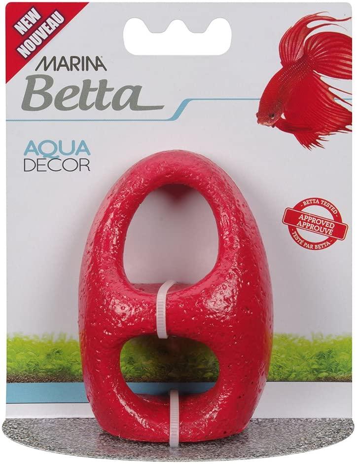 Marina Betta Stone Archway Aquarium Ornament, Red