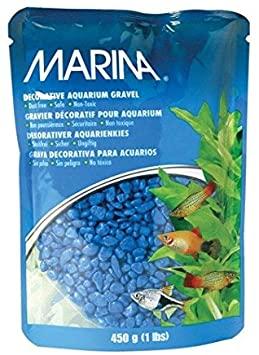 Marina Decorative Aquarium Gravel, Blue, 1-lb