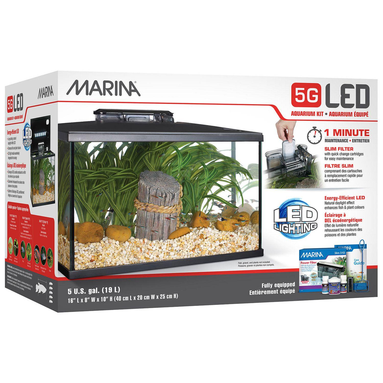 Marina LED Aquarium Kit, 5-gal