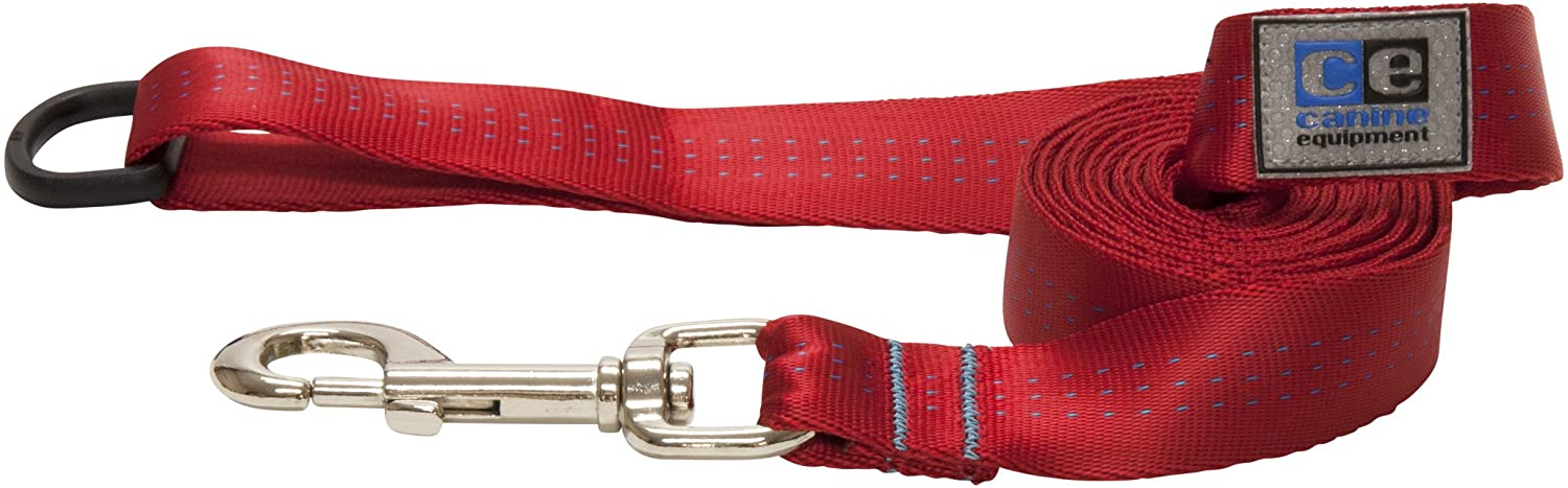 RC Pet Products Canine Equipment Technika Traffic Leash, Red, 3/4-in