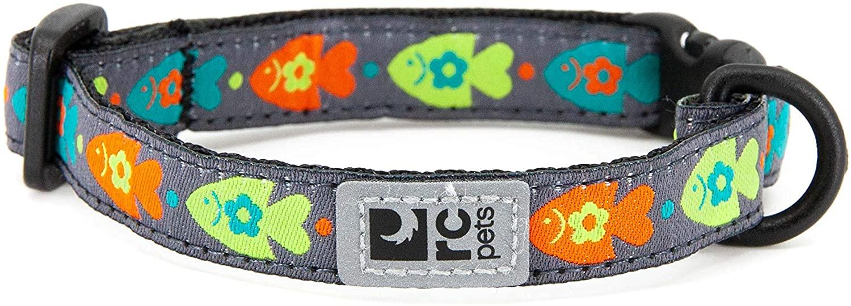 RC Pet Products Kitty Breakaway Collar 8-10 in, Fish