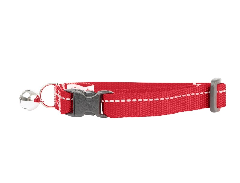 RC Pet Products Kitty Breakaway Collar 8-10 in, Red With Bell Image
