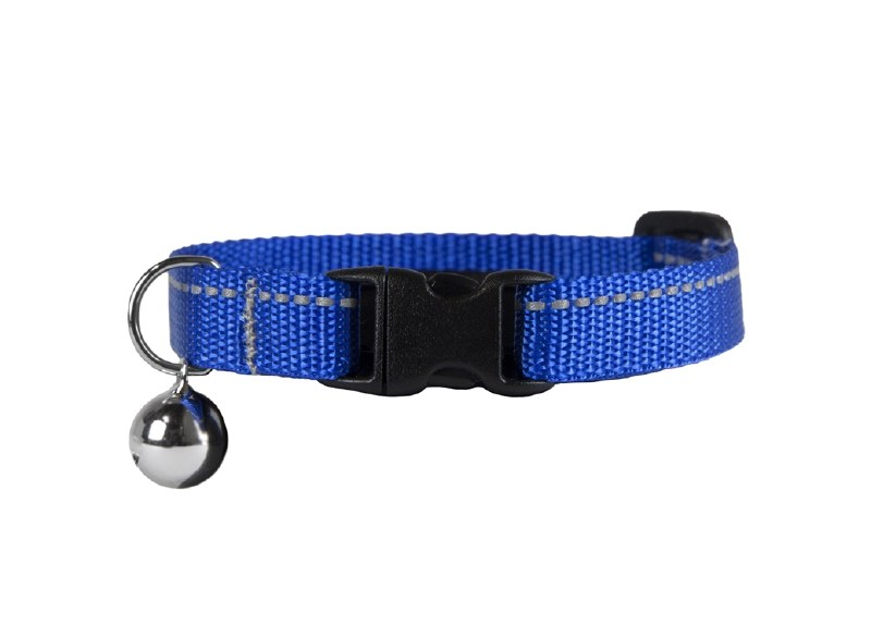 RC Pet Products Kitty Breakaway Collar 8-10 in, Royal Blue With Bell Image
