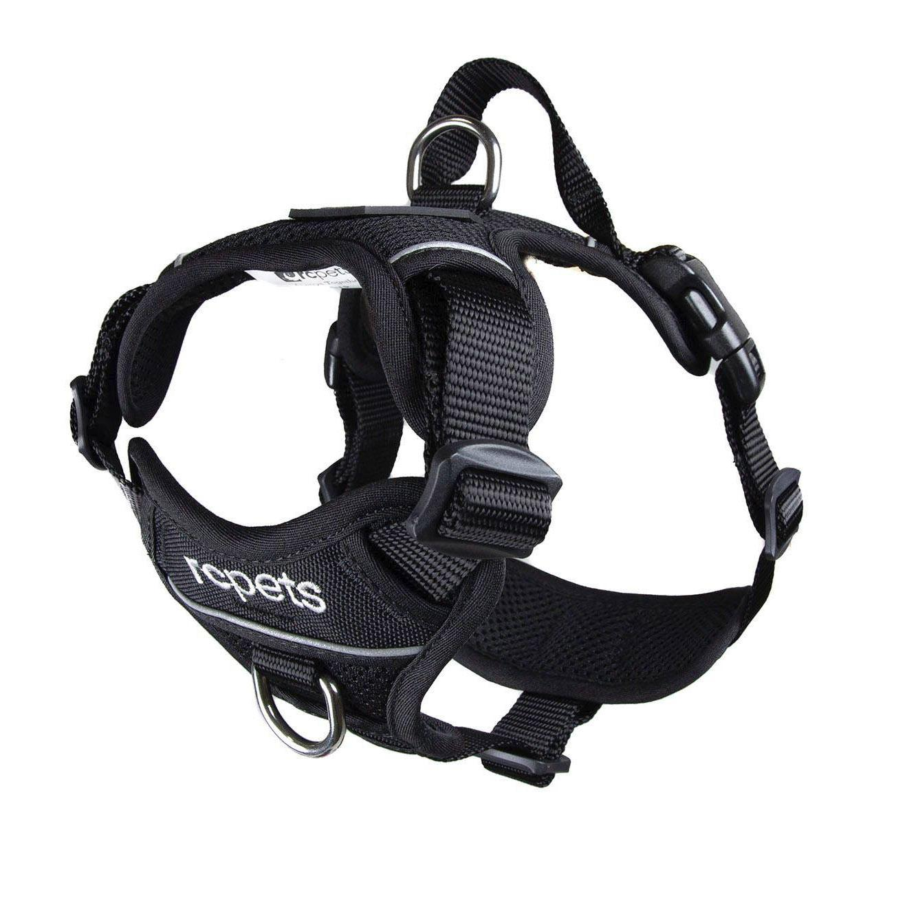 RC Pet Products Momentum Control Dog Harness, Black, X-Large