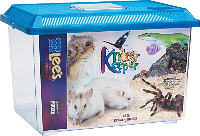 Lee's Kritter Keeper Rectangle Small Animal Habitat, Large