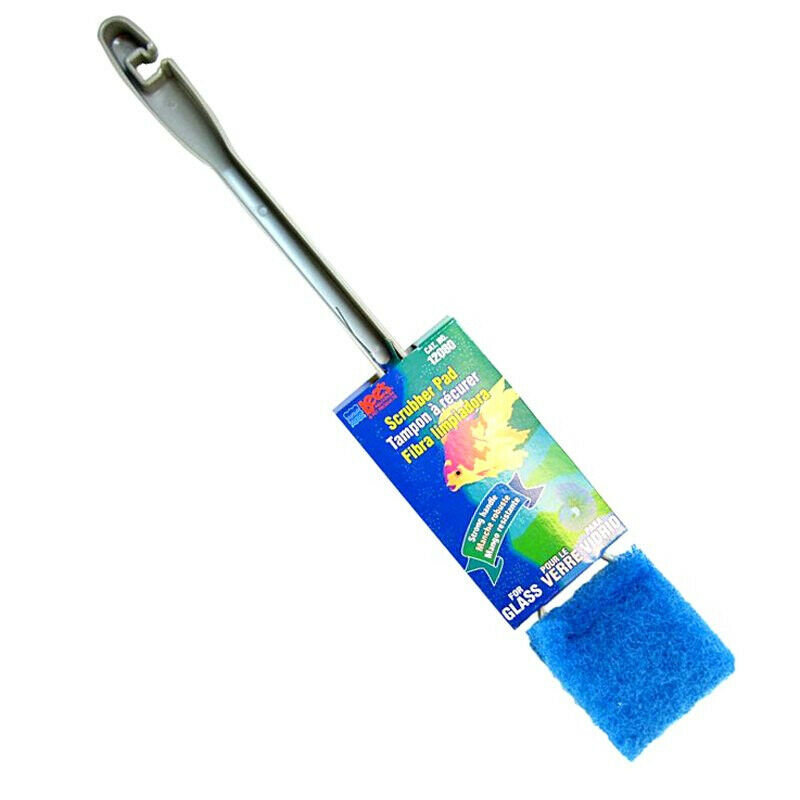 Lee's Glass Scrubber Pad with Handle for Aquariums