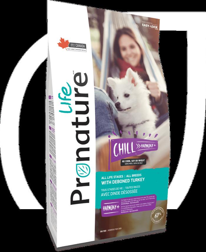 Pronature Life Chill Harmony+ with Deboned Turkey Dry Dog Food, 5-lb