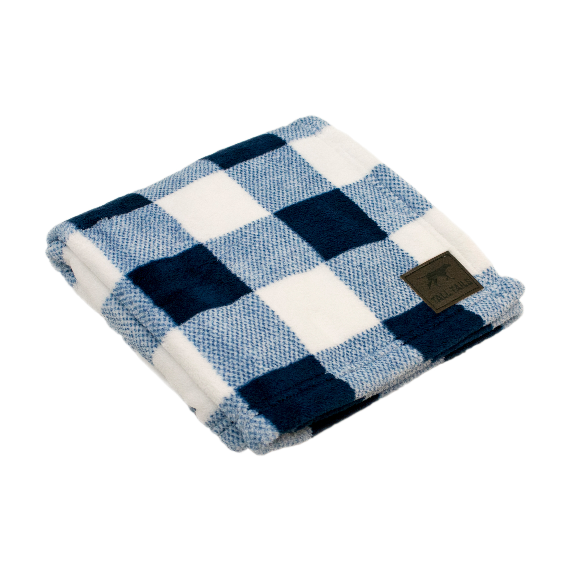 Tall Tails Hunter's Plaid Dog Blanket, Navy, 30x40