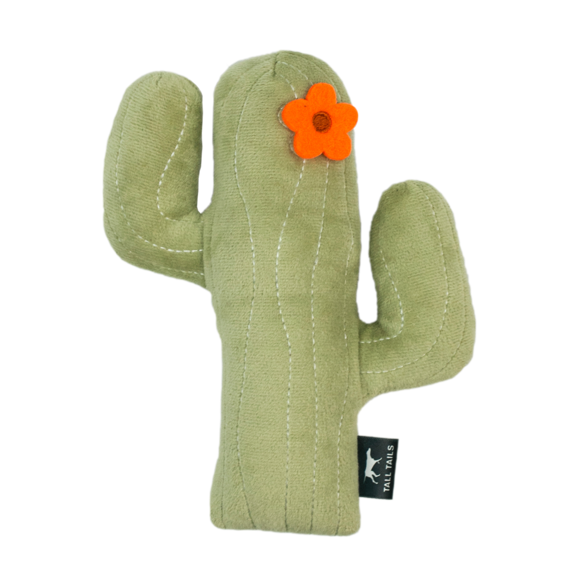 Tall Tails Cactus With Squeaker Dog Toy, 8-in.