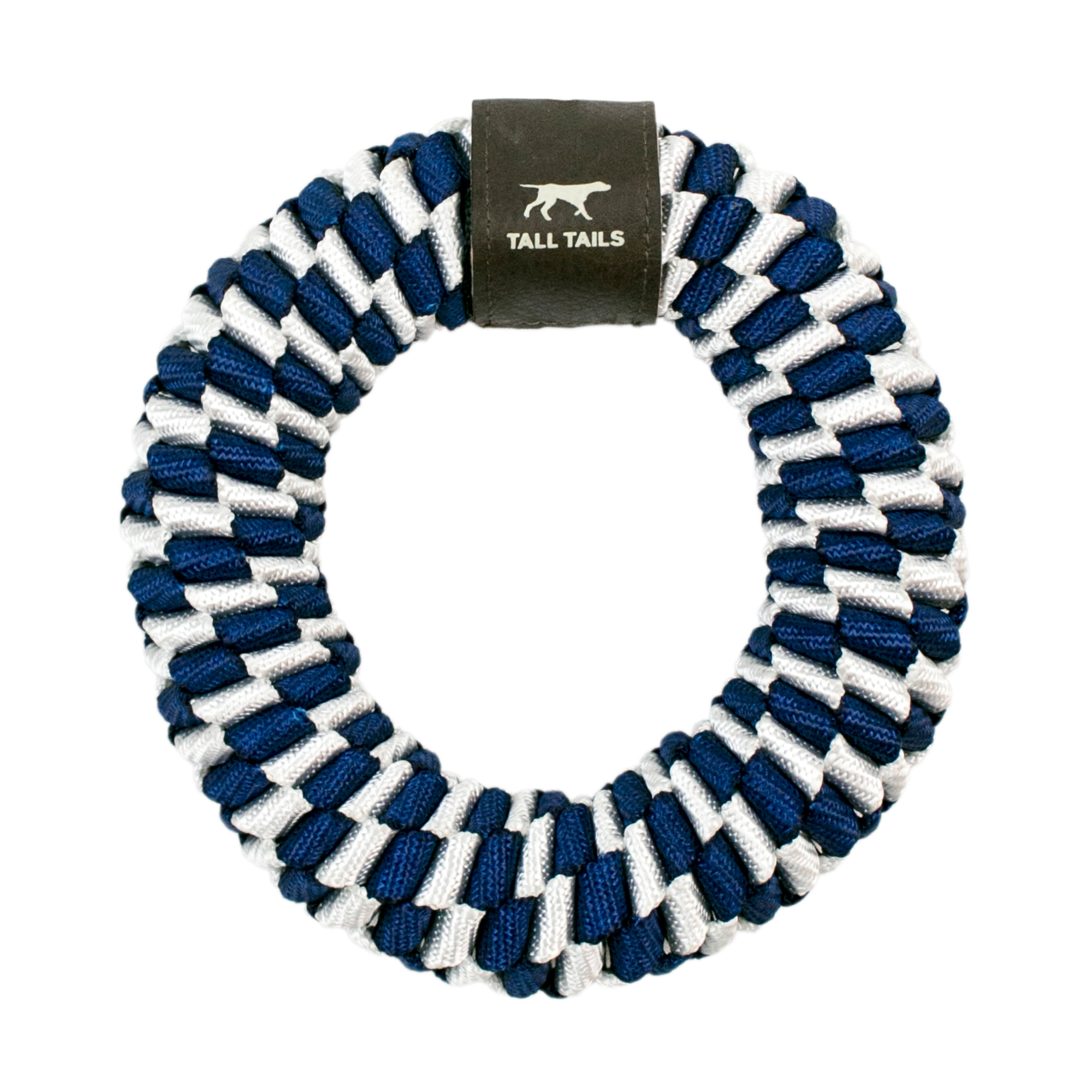 Tall Tails Navy Braided Ring Dog Toy, 6-in