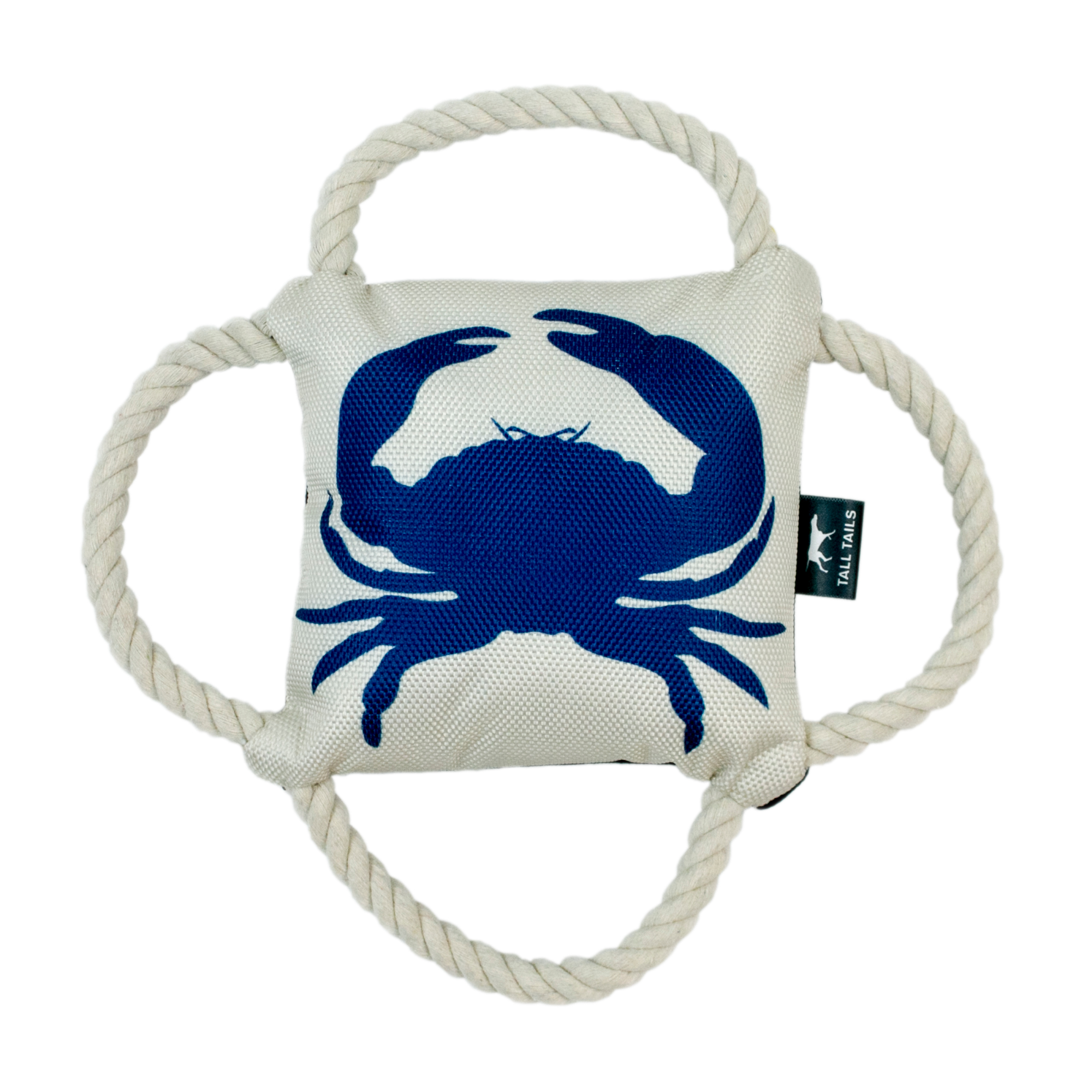 Tall Tails 4-Way Blue Crab Tug Dog Toy