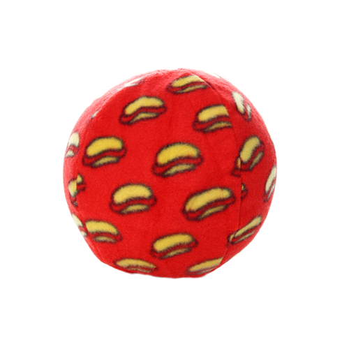 Tuffy's Mighty Ball Dog Toy, Red, Large