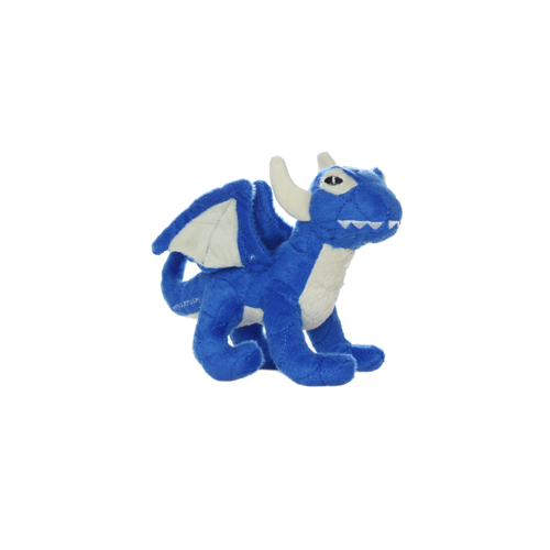 Tuffy's Mighty Dragon Dog Chew Toy, Blue Image