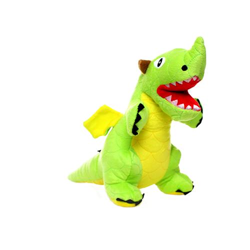Tuffy's Mighty Dragon Dog Chew Toy, Green Image