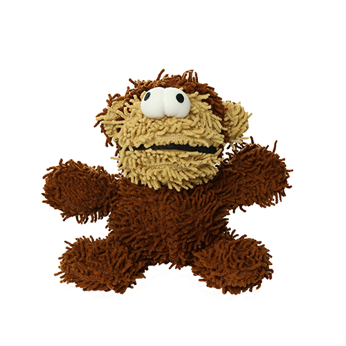 Tuffy's Mighty Microfiber Ball Monkey Dog Chew Toy, Junior