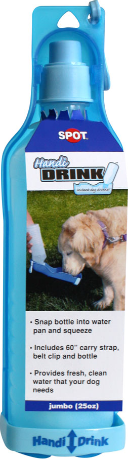 Ethical Pet Spot Handi-Drink Instant Bottle Pet Waterer, Blue, 24-oz