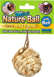 Ware Nature Ball with Bell Small Animal Toy, Mini