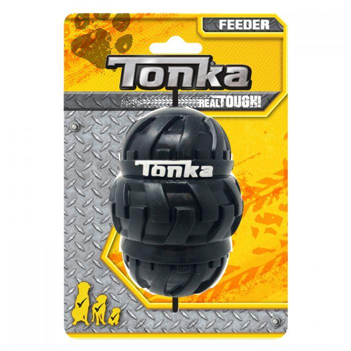 Tonka Tri-Stack Tread Feeder Dog Toy, 4-in