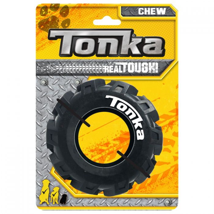 Tonka Seismic Rubber Tread Tire Dog Toy, 5-in