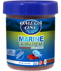 Omega One Marine Mini Pellets Fish Food, 1.8-oz