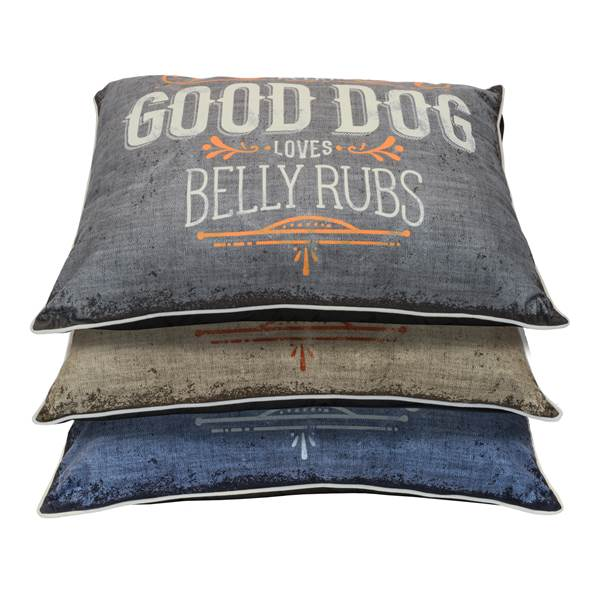 Dallas Manufacturing Company Good Dog Graphic Pillow Pet Bed, 30-in x 40-in