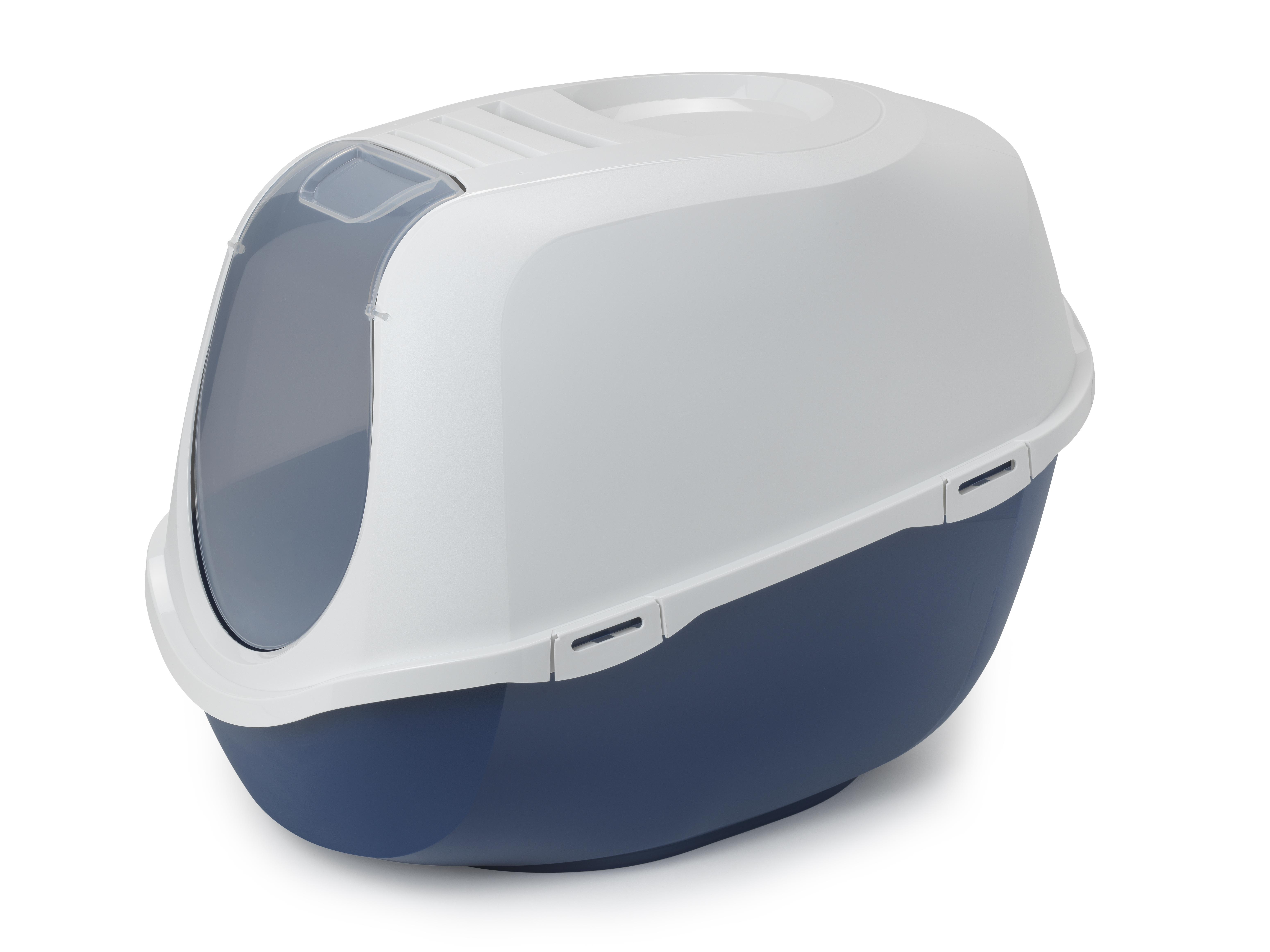 Moderna Mega Smart Cat Enclosed Blue Litter Box, X-Large