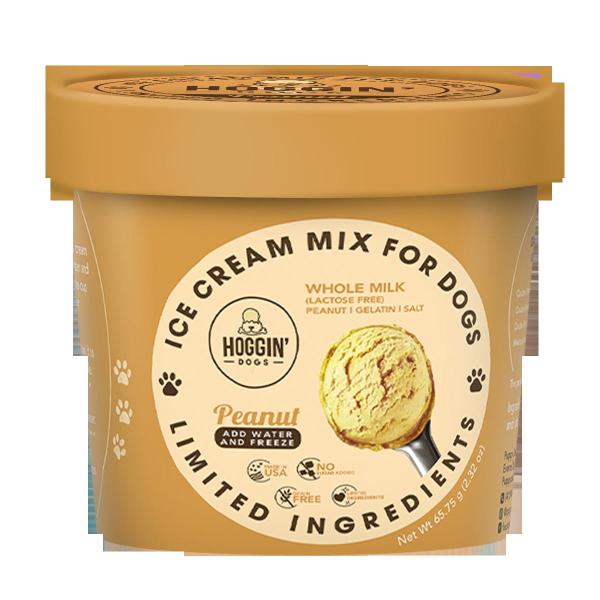 Puppy Cake Hoggin' Dogs Ice Cream Mix Peanut Butter Flavored Dog Treats, 2.32-oz