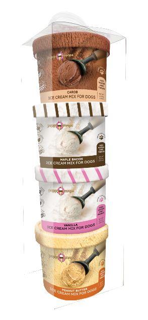 Puppy Cake Puppy Scoops Ice Cream Mix Sample Pack Dog Treats, 4-pk