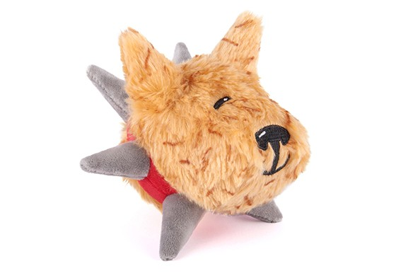 P.L.A.Y. Spiked! Plush Dog Toy, Biff the Dog, Junior