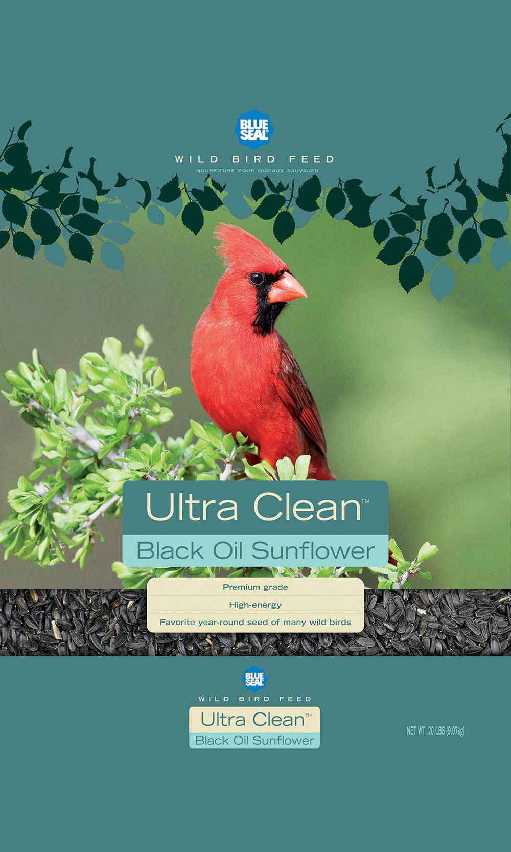 Blue Seal Ultra Clean Black Oil Wild Bird Food, 40-lb