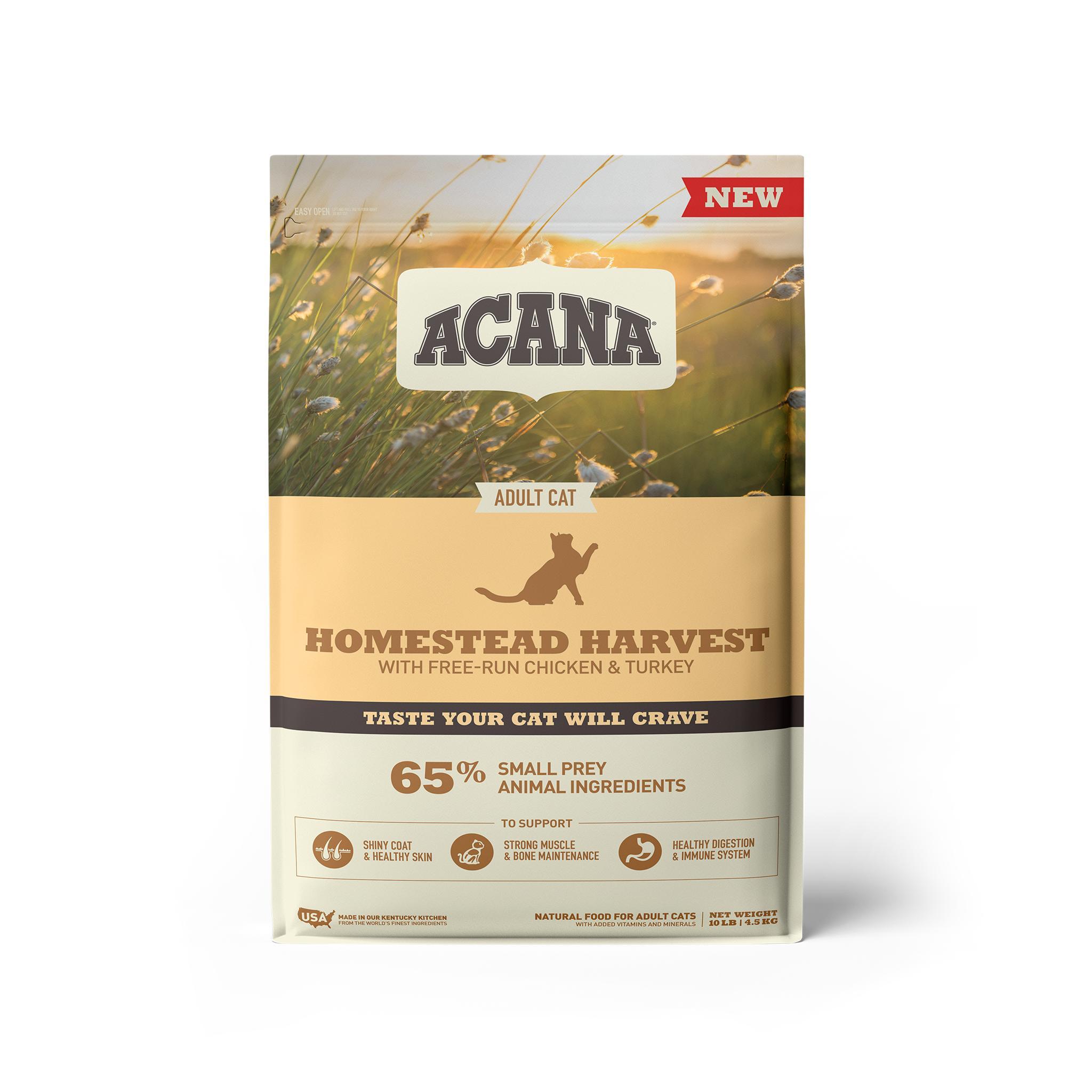 ACANA Homestead Harvest Dry Cat Food, 10-lb