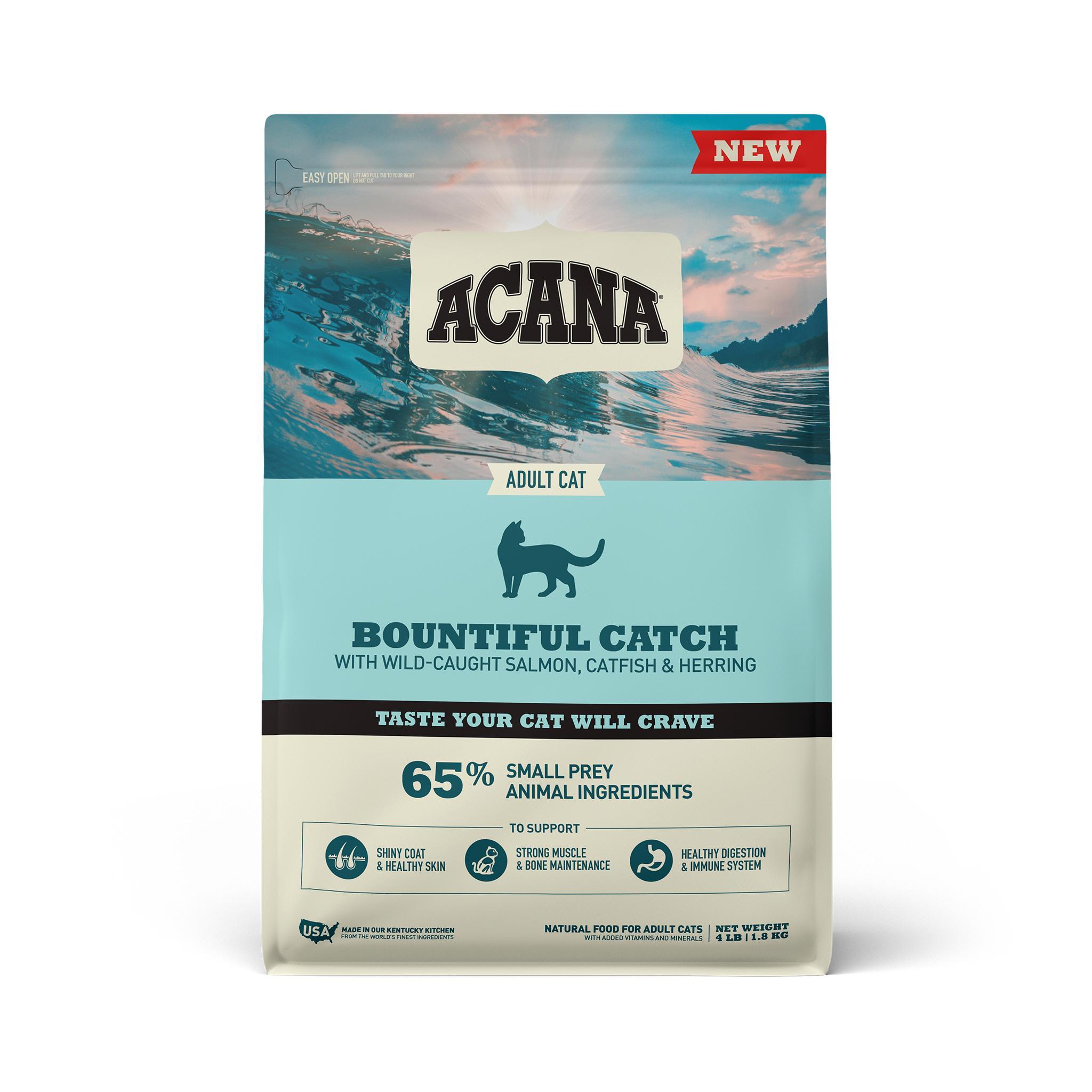 ACANA Bountiful Catch Dry Cat Food, 4-lb