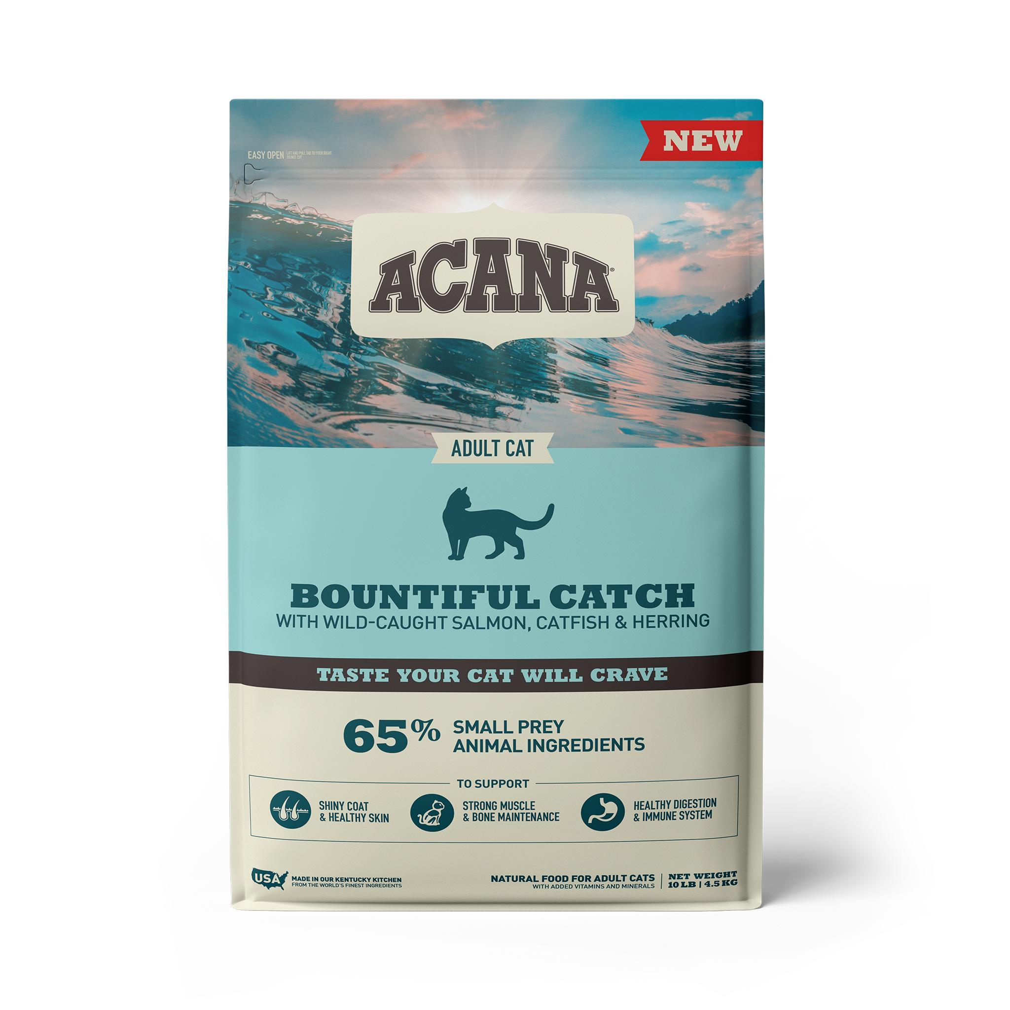 ACANA Bountiful Catch Dry Cat Food, 10-lb