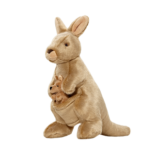 Fluff & Tuff Phoebe & Joey Kangaroo Dog Plush Toy, Large