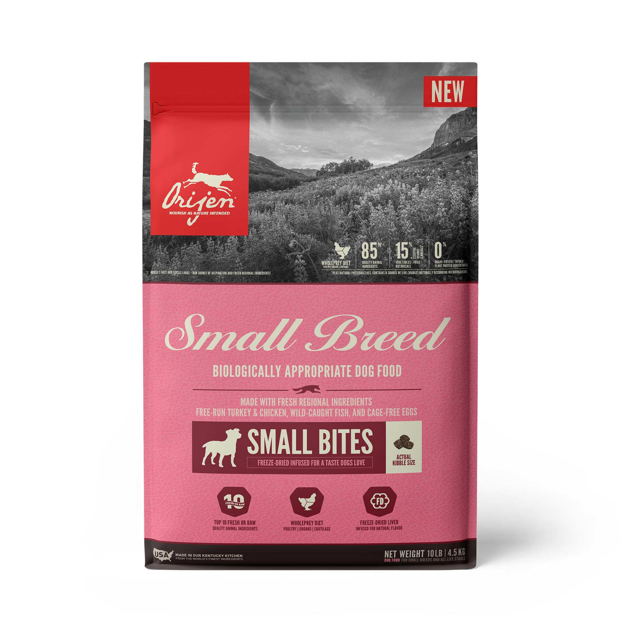 ORIJEN Small Breed Grain-Free Dry Dog Food, 10-lb