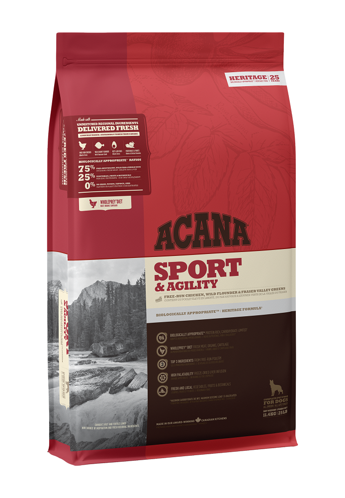 Acana Sport & Agility Dry Dog Food, 11.4-kg