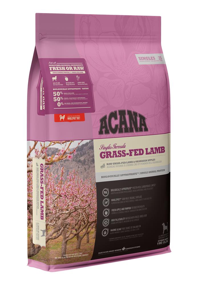 Acana Singles Grass-Fed Lamb Dry Dog Food, 2-kg